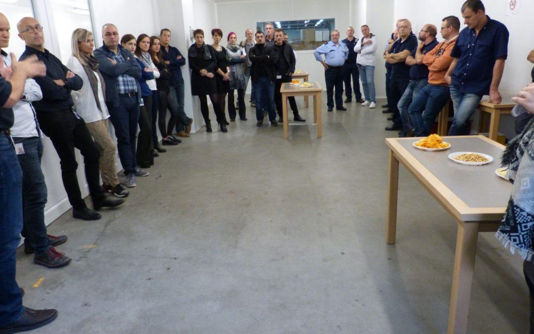 La prison d'Andenne inaugure une nouvelle salle blanche alimentaire
