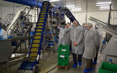 De futurs opérateurs de production en visite chez Père Olive