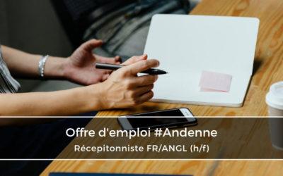 Réceptionniste FR/ANGL (h/f)