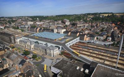 TMI a acheminé les premières pièces du pont de la gare de Namur