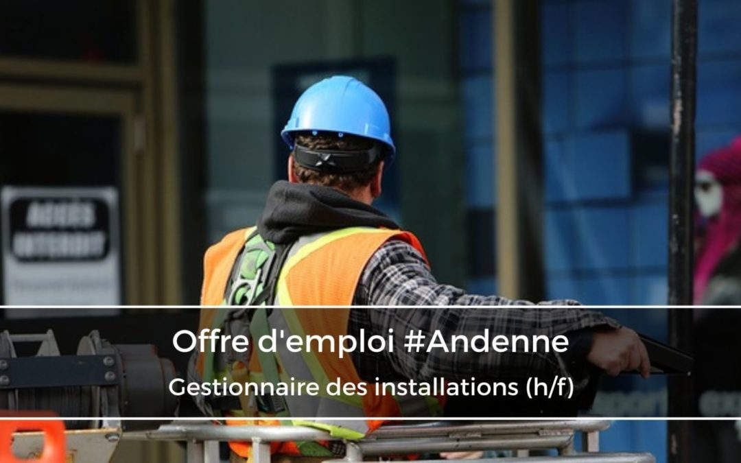 Gestionnaire des installations (h/f)