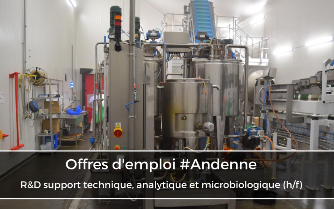 R&D support technique, analytique et microbiologique (h/f)