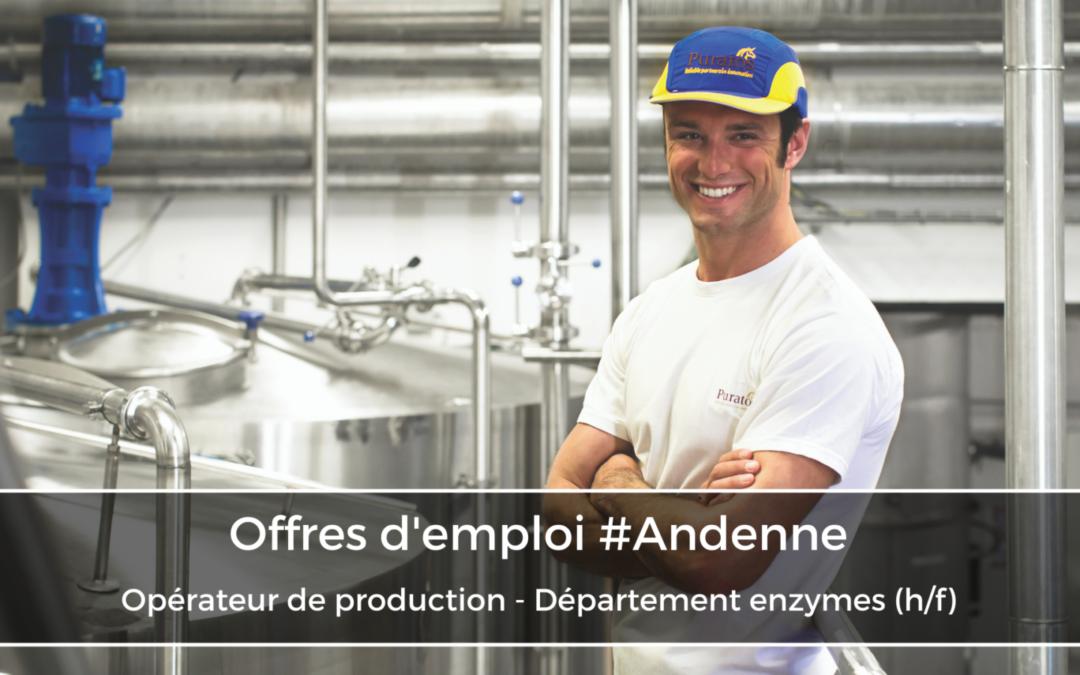 Opérateur de production – Département enzymes (h/f)