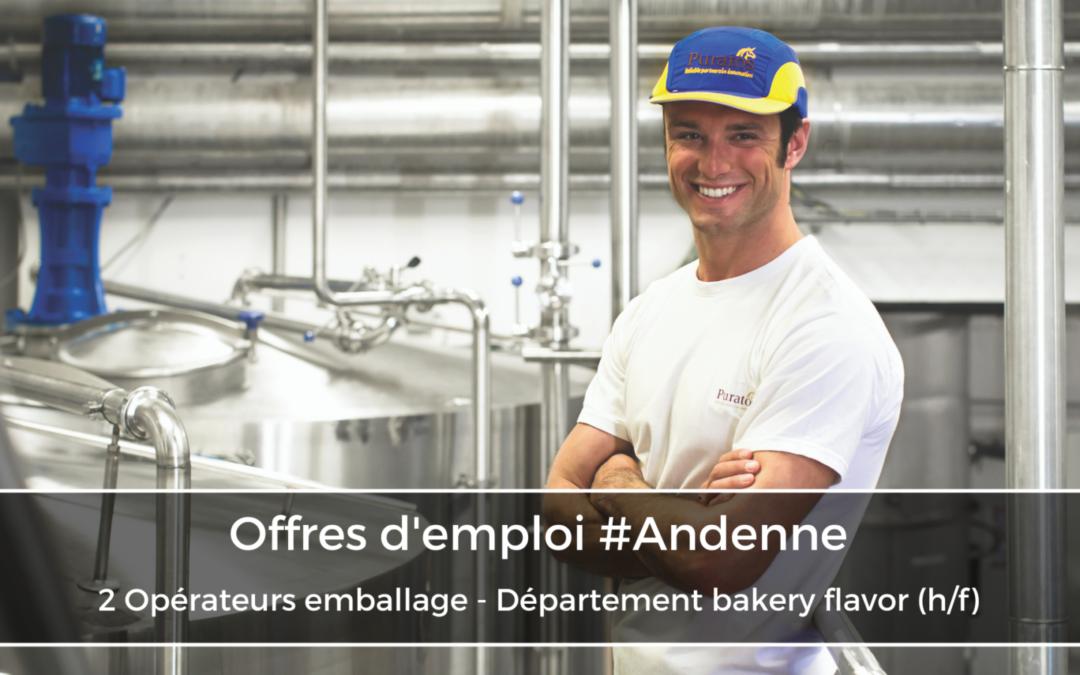 2 Opérateurs emballage – Département bakery flavor (h/f)